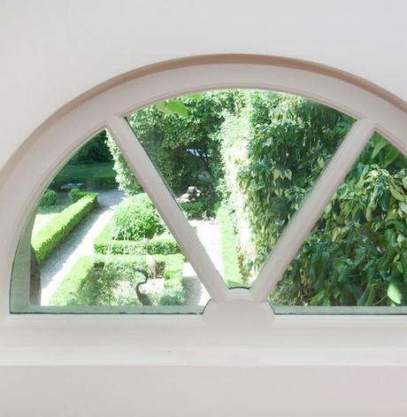 fenêtre demi-cercle retro maison années trente Saint Germain en Laye