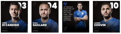 Portraits photo des joueurs d'une équipe de football à Grenoble réalisé par le photographe Christophe Levet