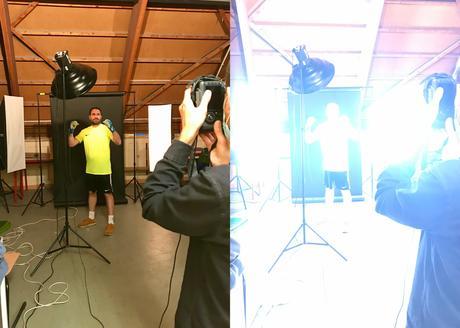 Le making-of de Portraits photo d'un joueur de foot à Grenoble réalisé par le photographe Christophe Levet