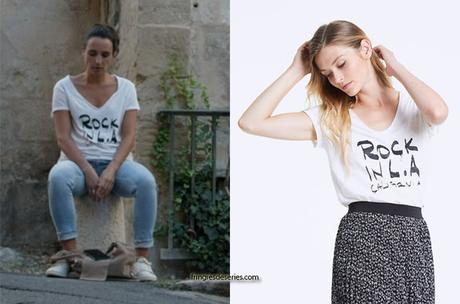 """UN SI GRAND SOLEIL : le t-shirt """"Rock in L.A"""" de Myriam dans l'épisode 504"""
