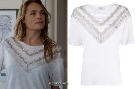 UN SI GRAND SOLEIL : le t-shirt à dentelles de Claire dans l'épisode 509