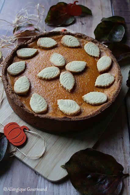 Pumpkin pie ou tarte au potimarron { sans gluten, sans lait, sans œufs }