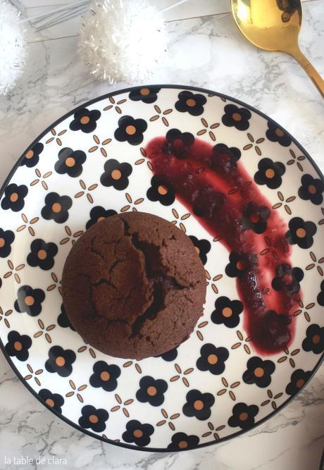 Fondants chocolat noir au piment d'espelette