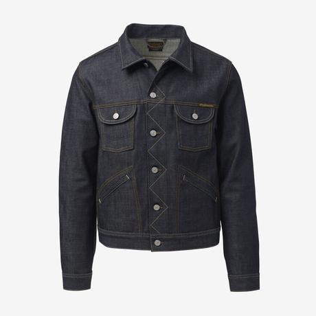 Raw Denim Jacket by Civilianaire, 1015831 Indigo Denim, blockout