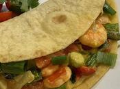 Tacos guacamole crevettes