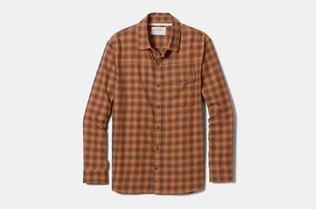chemise flanelle homme marron