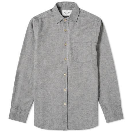 chemise en flanelle grise