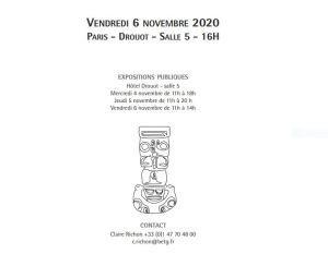 Ventes de  » Kachinas  » le 6 Novembre 2020 à Drouot 16h00 salle 5