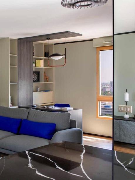 aménager espace de travail 2 pièces appartement parisien salon - blog déco - clem around the corner