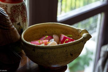 Japonisant – Navets à la vapeur, sauce au yuzu