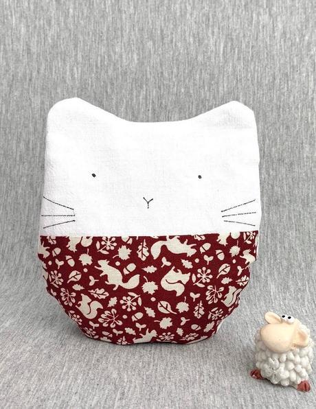 bouillotte sèche pochette chauffante micro ondes chat - blog déco - clematc