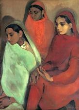 1935_Amrita-Sher-Gil-F-morte-en-1941-à-28-ans_Group-of-Three-Girls