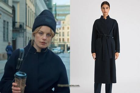 LOVE & ANARCHY : Sofie's navy coat in S1E04