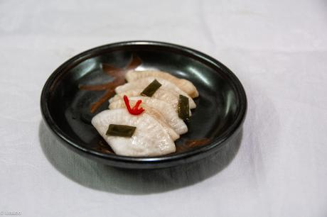 Délicatesse nipponne – Tsukemono de navet blanc (Senmai-zuke)