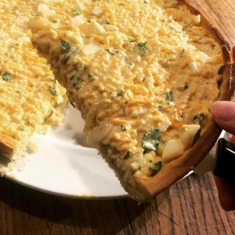 tarte froide aux légumes et aux œufs