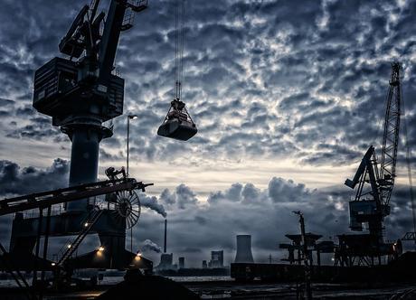Port, Crane, Grue Portuaire, Moyeu De Commercialisation