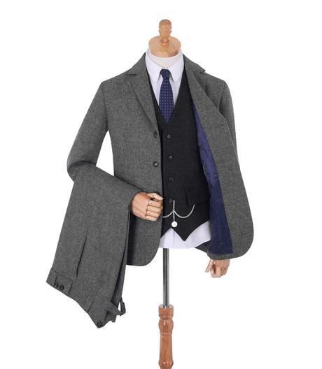 costume tweed homme