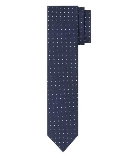 cravate bleue homme à pois blancs