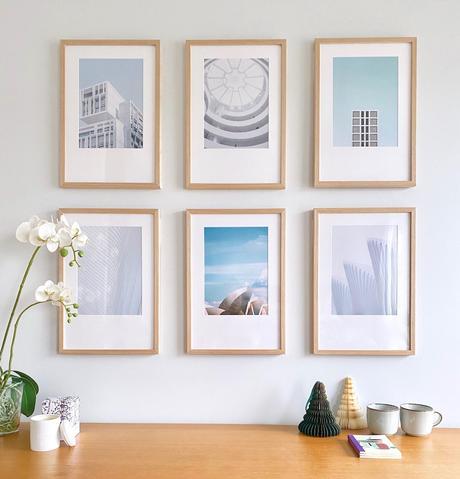 faire mur photos chambre - blog déco clem around the corner