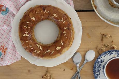 Gâteau renversé à la halva vegan