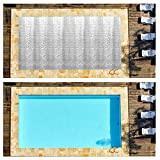 Riosupply Couverture rectangulaire de Piscine Solaire de Piscine creusée pour Le Protecteur de Couverture Solaire de Piscine
