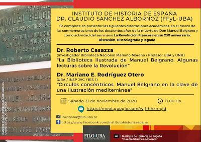 Année Belgranienne: une conférence de la UBA demain [à l'affiche]