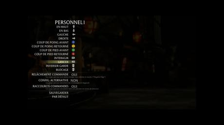 Exemple menu pour configurer la dualsense sur un jeu PC
