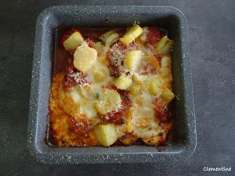 Gratin de pommes de terre aux tomates et taleggio