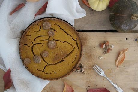 Pumpkin pie (tarte à la citrouille) vegan