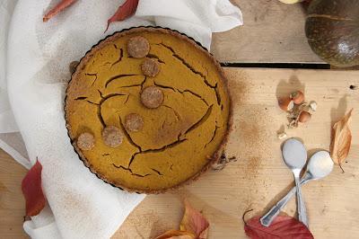 Cuillère et saladier : Pumpkin pie (tarte à la citrouille) vegan
