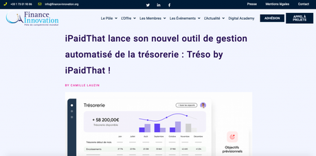 Finance Innovation parle d'iPaidThat