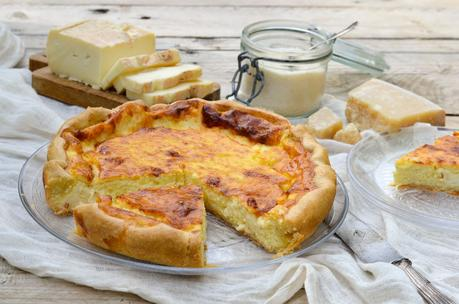 Quiche aux fromages italiens
