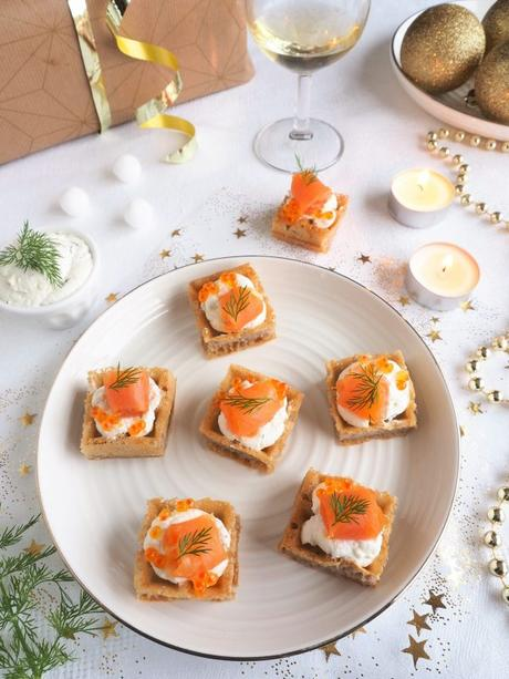 Mini gaufres au saumon