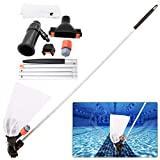 Aspirateur de piscine avec section 5 pôles – Portable pour la maison, la piscine, bassin, mini jet de nettoyage