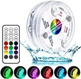 LOFTEK Lampe Piscine LED Lumières LED Submersibles IP68 Étanche 16 RGB Couleurs Changement Lampes Décoratives pour Aquariums, Piscines, Étangs (1 Pcs)