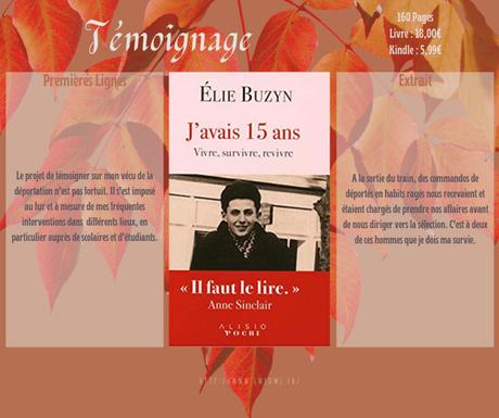 J'avais 15 ans : vivre, survivre, revivre » Elie Buzyn