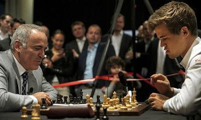 « Il n'y a pas de sport plus violent que les échecs. » Garry Kasparov, le treizième champion du monde d'échecs de l'histoire, de 1985 à 2000.