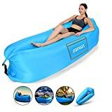 Shenkey Chaise Longue Gonflable imperméable et Anti-Fuite d'air - Canapé Gonflable Portable pour Voyage, Camping, randonnée et soirée à la Plage