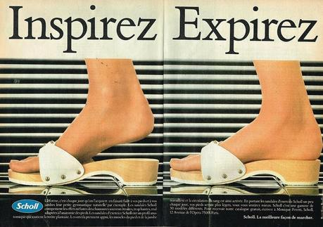 1982 Chaussures sandales Scholl