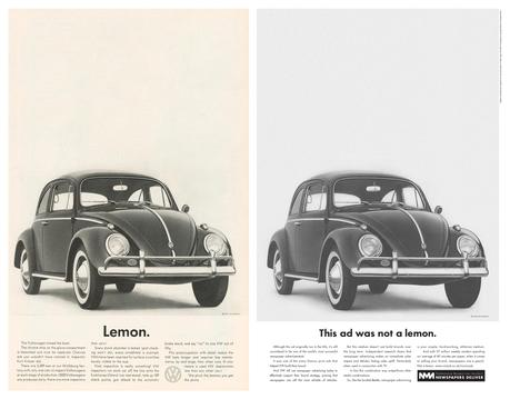 2008 Newpaper marketing agency volkswagen-lemon-advert1