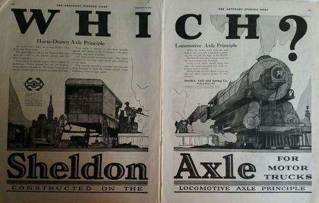 1919 Sheldon truck Axle horse-drawn and locomotive