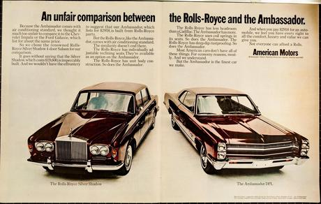 1968 AMC Ambassador vs Rolls-Royce Silver Shadow