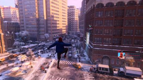 Spider-Man Miles Morales dans la ville PS5