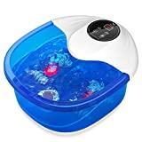 Masseur de bain de Spa de pied avec vibration de chaleur de bulles et arrêt automatique, 4 rouleaux de massage et pierre de pied pour le massage d'acupression pour soulagement de stress de pieds