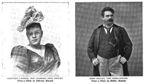 Otto et Marie Brucks, née baronne Marie-Louise von Wallersee, ex Comtesse Larisch.