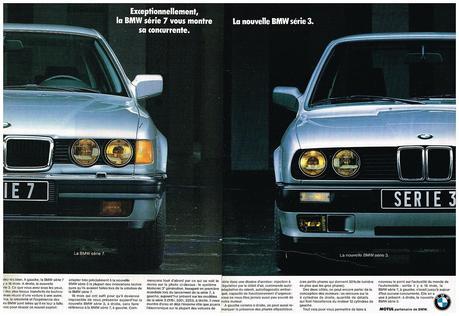 1988 BMW serie 7 et serie 3