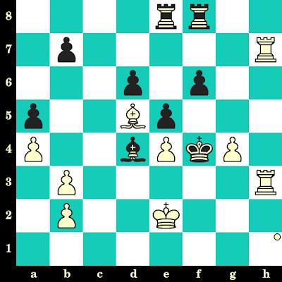 Les Blancs jouent et matent en 2 coups - Anatoly Karpov vs Henrique Mecking, Hastings, 1971
