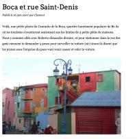 capture de l'article du 16 juin sur le blog de Clément