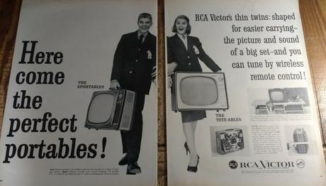 1959 RCA Victor Televisions Eldorado Sportable et Debonair Tote-able
