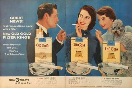 1955 Vintage Ad for Old Gold Cigarettes